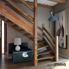 Dom w Grajowie : styl , w kategorii Korytarz, przedpokój zaprojektowany przez MIKOŁAJSKAstudio ,