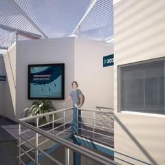 Patio Interior 2do Nivel: Escuelas de estilo  por Soluciones Técnicas y de Arquitectura