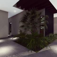 LOBBY: Pasillos y recibidores de estilo  por BOCA ARQUITECTOS