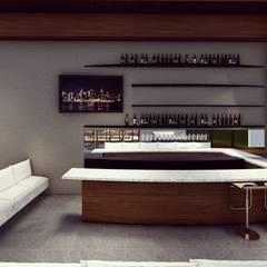 CONSTRAST HOUSE: Cavas de estilo  por BOCA ARQUITECTOS