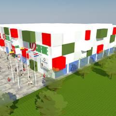 Pelota Vasca: Gimnasios de estilo  por Taller73 arquitectura, ingeniería e interiorismo