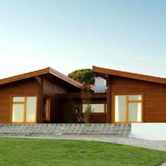 Wooden houses by Rusticasa, Modern Solid Wood Multicolored