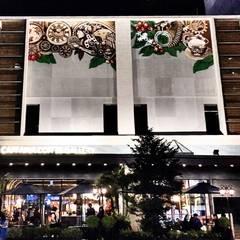 CAFFAINA 大墩店:  餐廳 by X2 CREATE乘雙設計制造所, 古典風