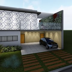 Maisons mitoyennes de style  par Whill Barros Arquitetura e Design