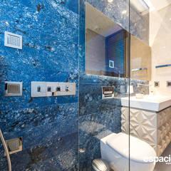 Obra Diecinueve: Baños de estilo  por EspacioInterior, Ecléctico Mármol
