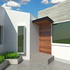 ACCESO DEPARTAMENTO 2: Casas multifamiliares de estilo  por CREAT ARQUITECTURA