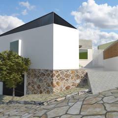 VISTA SUR-OESTE: Casas multifamiliares de estilo  por CREAT ARQUITECTURA