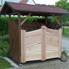 كوخ حديقة تنفيذ Tischlerei Pohl, ريفي خشب Wood effect