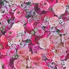 Urban Flowers Rosen - Vliestapete :  Wände von dasherzallerliebste