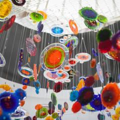 Nebula: Salas / recibidores de estilo  por Ana Maria Nava Glass, Moderno