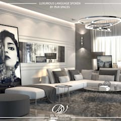 Residential Apartment - New Cairo:  Living room by Bvision Interiors