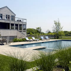 Town Lane Residence, Amagansett, NY: country Pool by BILLINKOFF ARCHITECTURE PLLC