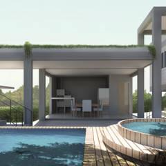 industrieel Zwembad door Perelopes Arquitetura