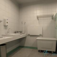 Projeto de interiores para Enfermarias da Clínica médica de um Hospital Infantil: Hospitais  por Gigi Arruda Interiores/ Pallecor