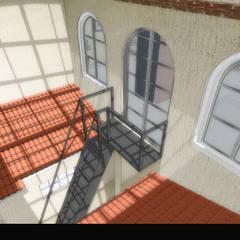 casa mina: Pasillos y recibidores de estilo  por WIGO SC