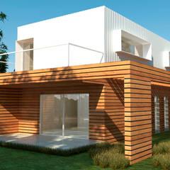 Madera Y Chapa: Casas de campo de estilo  por IMAGENES MR
