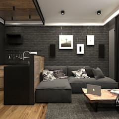 Salas / recibidores de estilo industrial por MONOstudio