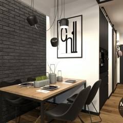 Jadalnia w klimacie industrialnym: styl , w kategorii Jadalnia zaprojektowany przez MONOstudio