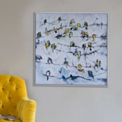 Little Yellow Birds canvas print:  Walls by Loaf