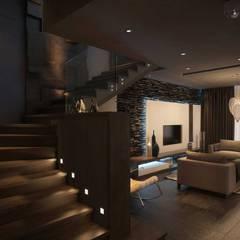 La Terra Residence الممر الحديث، المدخل و الدرج من Ori - Architects حداثي