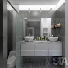 Baño Principal: Baños de estilo  por Soluciones Técnicas y de Arquitectura