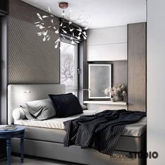 przytulna sypialnia: styl , w kategorii Sypialnia zaprojektowany przez MIKOŁAJSKAstudio
