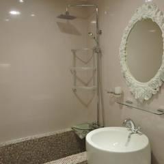 桃園58坪舊屋翻新:  浴室 by 登品空間規劃工程有限公司