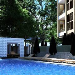Green Heights:  Garden Pool by Belal Samman Architects