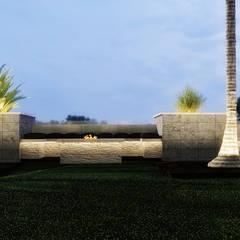 Green Heights:  Front garden by Belal Samman Architects