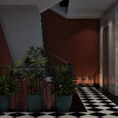 :  الممر والمدخل تنفيذ ICONIC DESIGN STUDIO, ريفي