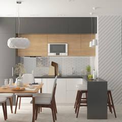 Семейная квартира: Кухни в . Автор – Yurov Interiors
