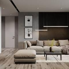 Квартира для творческой пары: Гостиная в . Автор – Yurov Interiors