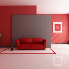 Colorful Red Interior: modern  by Spacio Collections,Modern Textile Amber/Gold