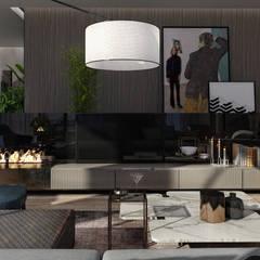 AK - Westown:  غرفة المعيشة تنفيذ STUDIO PARADIGM, حداثي