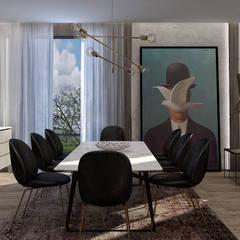 AK - Westown:  غرفة السفرة تنفيذ STUDIO PARADIGM