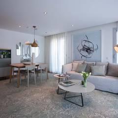 Living room by Tralhão Design Center