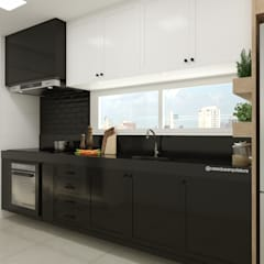 Small kitchens by CASA DUE ARQUITETURA, Modern