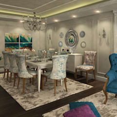 Flat in El Rehab :  Dining room by Rêny