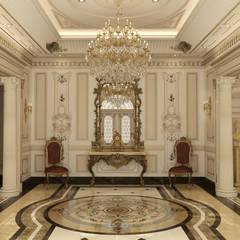 Classic Villa Reception :  Corridor & hallway by Rêny