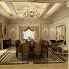 Classic Villa Reception :  Dining room by Rêny