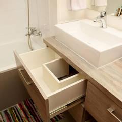 Remodelación Depto Floody: Baños de estilo  por ARCOP Arquitectura & Construcción,