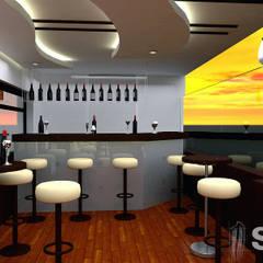 Diseño de varios proyectos: Restaurantes de estilo  por Soluciones Técnicas y de Arquitectura ,