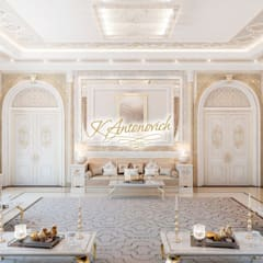 Living room in the oriental style from Katrina Antonovich:  Living room by Luxury Antonovich Design