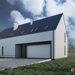 Dom nowoczesny B01 G2 StudioA&W: styl minimalistyczne, w kategorii Domy zaprojektowany przez  Architekt Łukasz Bulga Studio A&W Kraków | Projekty domów nowoczesnych