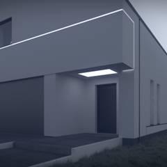 Dom nowoczesny B02 StudioA&W: styl minimalistyczne, w kategorii Domy zaprojektowany przez  Architekt Łukasz Bulga Studio A&W Kraków | Projekty domów nowoczesnych
