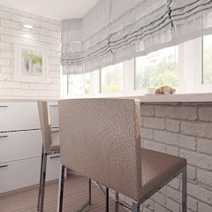"""Проект квартиры для молодой семьи """"Функциональность и легкость"""": Кухонные блоки в . Автор – ARTWAY центр профессиональных дизайнеров и строителей"""