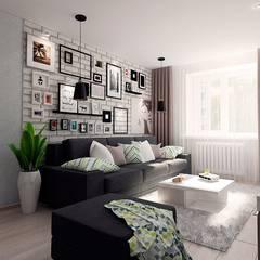 Phòng khách by ARTWAY центр профессиональных дизайнеров и строителей