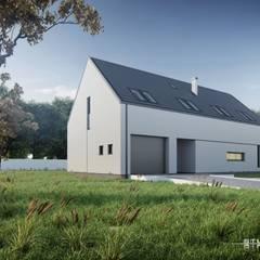 Dom nowoczesny B03 G1 StudioA&W: styl minimalistyczne, w kategorii Domy zaprojektowany przez  Architekt Łukasz Bulga Studio A&W Kraków | Projekty domów nowoczesnych