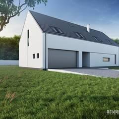 Dom nowoczesny B03 G2 StudioA&W: styl minimalistyczne, w kategorii Domy zaprojektowany przez  Architekt Łukasz Bulga Studio A&W Kraków | Projekty domów nowoczesnych
