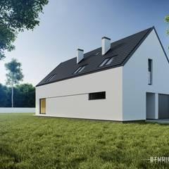 Dom nowoczesny B04 StudioA&W: styl minimalistyczne, w kategorii Domy zaprojektowany przez  Architekt Łukasz Bulga Studio A&W Kraków | Projekty domów nowoczesnych